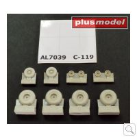 MODELCHOICE.net | The best war and civil models, conversions and accessories - Product detail - C-119 Boxcar wheels early version